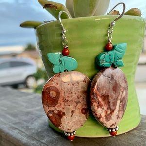 Orbicular Jasper & Turquoise Earrings